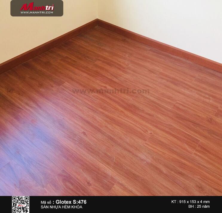 Thi công sàn nhựa hèm khóa Glotex S: 476 tại Hội Bài, Châu Pha, Bà Rịa - Vũng Tàu