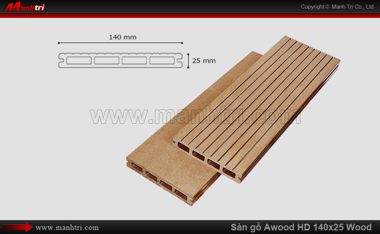 Sàn gỗ Awood HD140x25-4S Wood