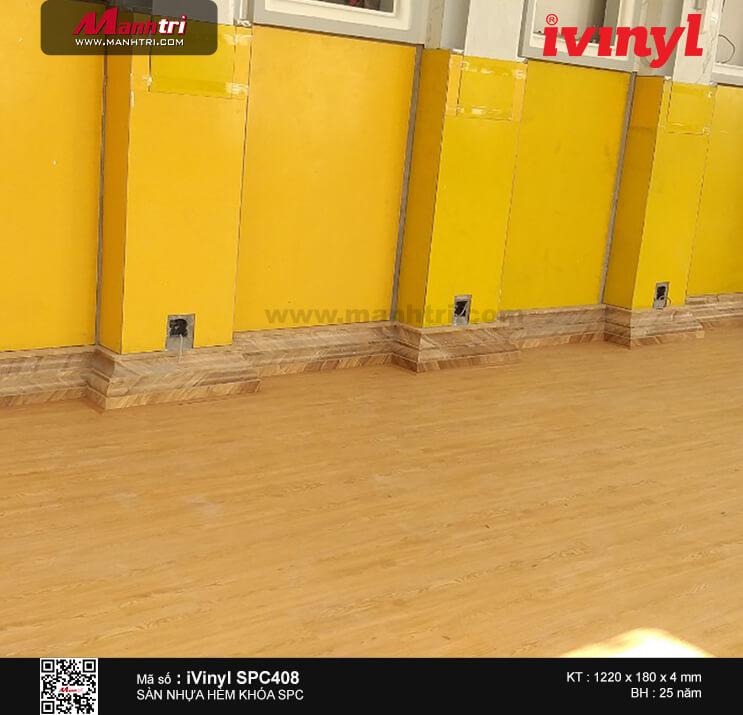 Thi công sàn nhựa hèm khóa iVinyl SPC 408 tại Châu Thành, Sóc Trăng