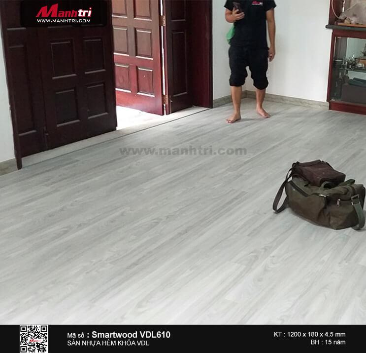 Thi công sàn nhựa hèm khóa Smartwood VDL 610 tại Phú Mỹ Hưng, Q.7, TP.HCM