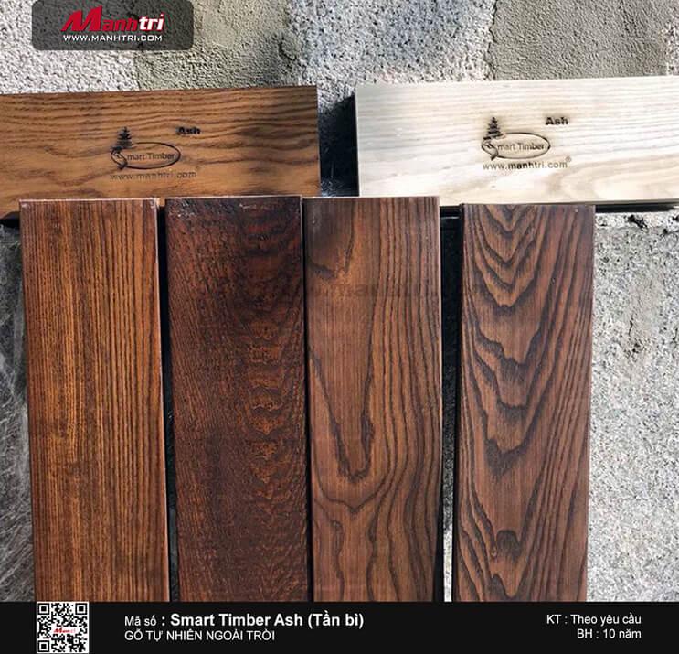 Thi công gỗ tự nhiên ngoài trời Smart Timber Ash (Tần bì) tại Bắc Hải, Q.10