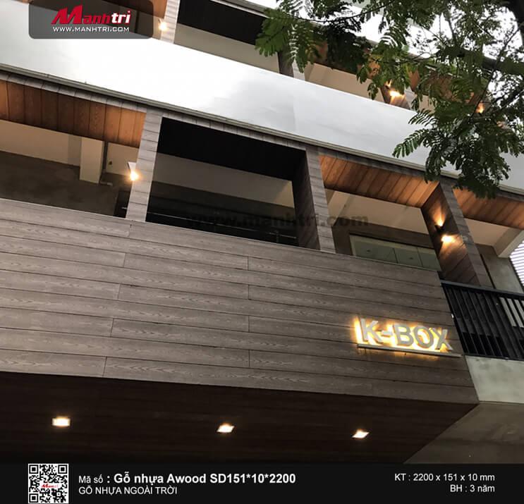 Gỗ Awood SD151*10*2200 ốp tường tại cà phê K - BOX 375 Hoàng Sa, Q.1, TP.HCM