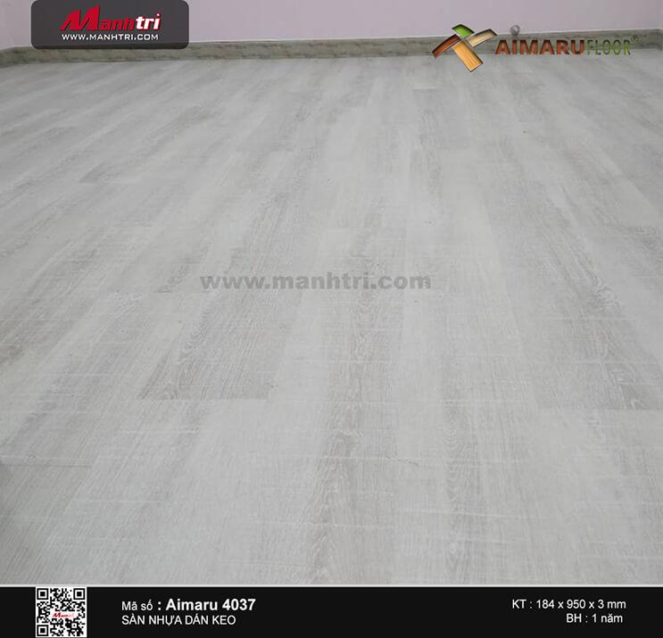 Thi công sàn nhựa dán keo Aimaru 4037 tại Trần Xuân Soạn, P.Tân Hưng Thuận, Q.7