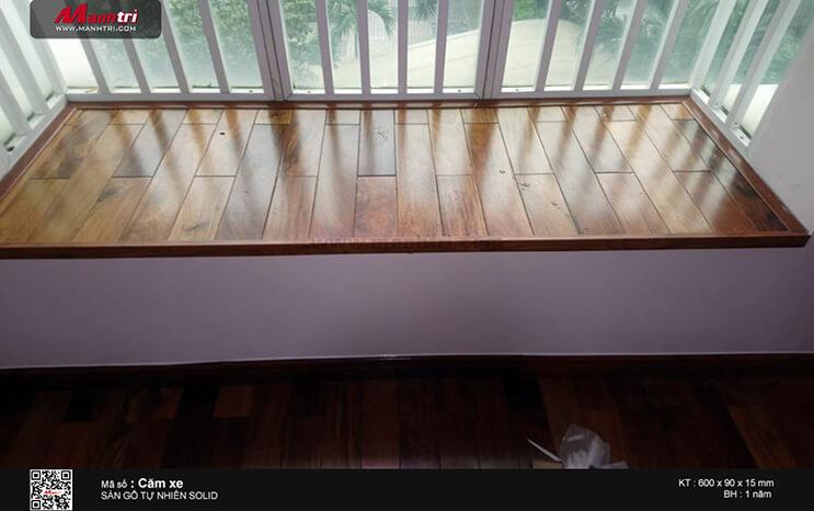 Thi công sàn gỗ tự nhiên Căm Xe Solid tại Lê Văn Lương, P.Tân Quy, Q.7