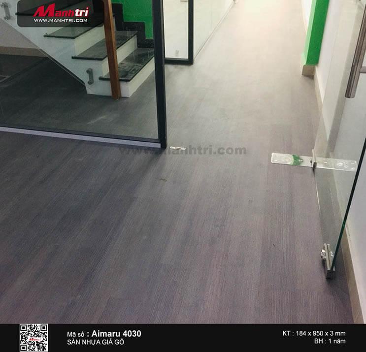 Thi công sàn nhựa dán keo Aimaru 4030 tại Đường 7A, P.An Phú, Q.2