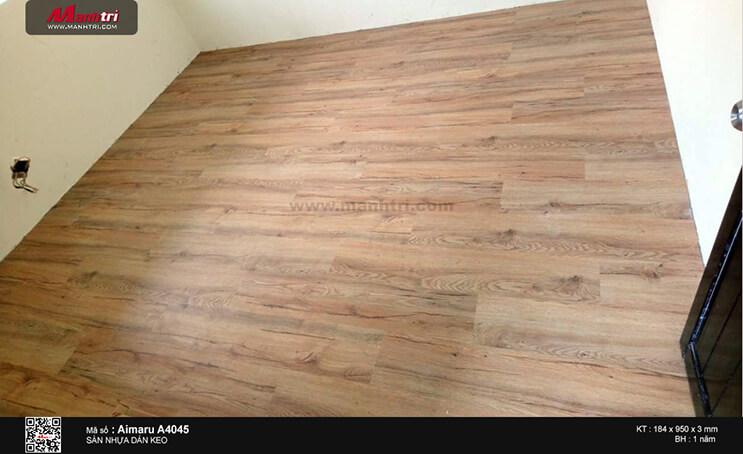 Thi công sàn nhựa giả gỗ Aimaru A4045 tại Phước Long A, Q.9