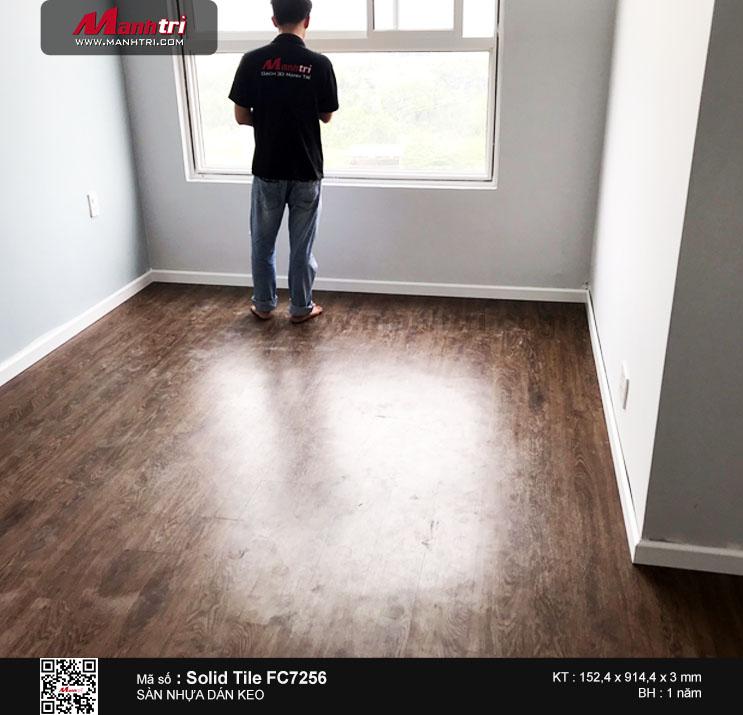 Thi công sàn nhựa dán keo Solid Tile FC7256 tại Chung cưSunriver, Quận 7, TP. Hồ Chí Minh