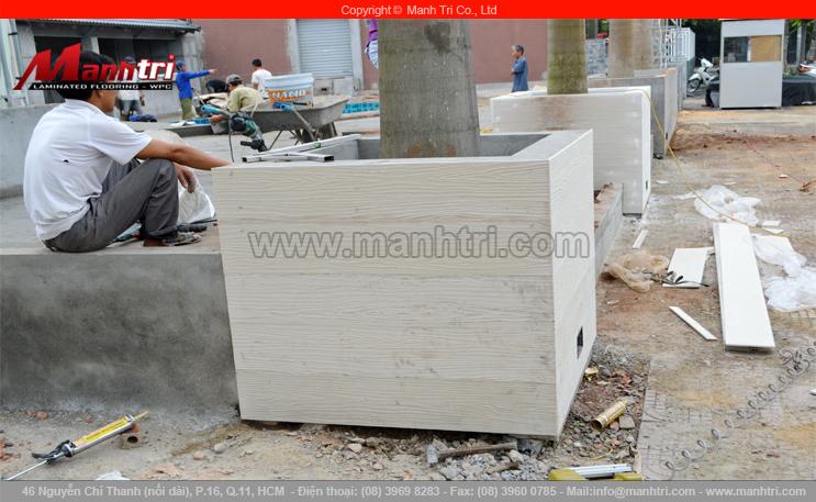 Tấm SCG trang trí chậu cây cảnh tại tỉnh Quảng Ninh