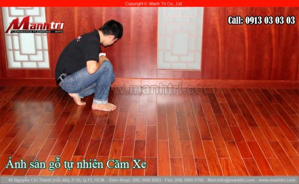 Sàn gỗ tự nhiên Căm Xe lót sàn tại Phú Nhuận, TPHCM