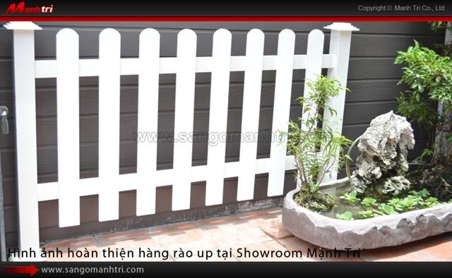 Lắp đặt Hàng Rào ngoài trời hoàn thiện tại Showroom Mạnh Trí