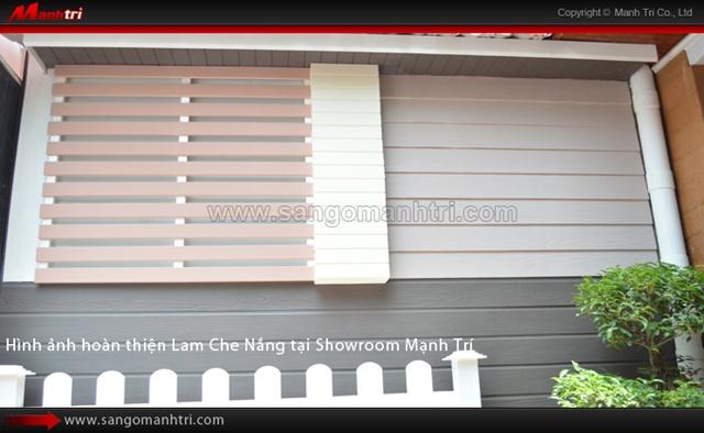 Thi công Lam Che Nắng hoàn thiện tại Showroom Mạnh Trí