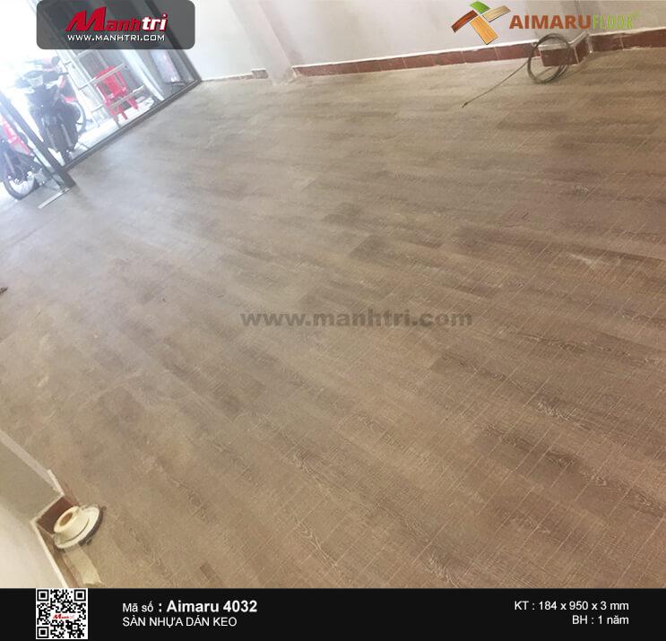 Thi công sàn nhựa dán keo Aimaru 4032 tại Mai Thị Lựu, Q.1, TP.HCM
