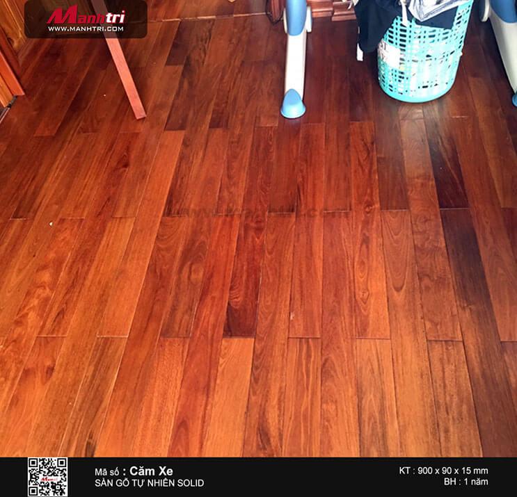 Thi công sàn gỗ tự nhiên Căm Xe Solid tại Đường Số 10, P.Tân Hưng, Q.7