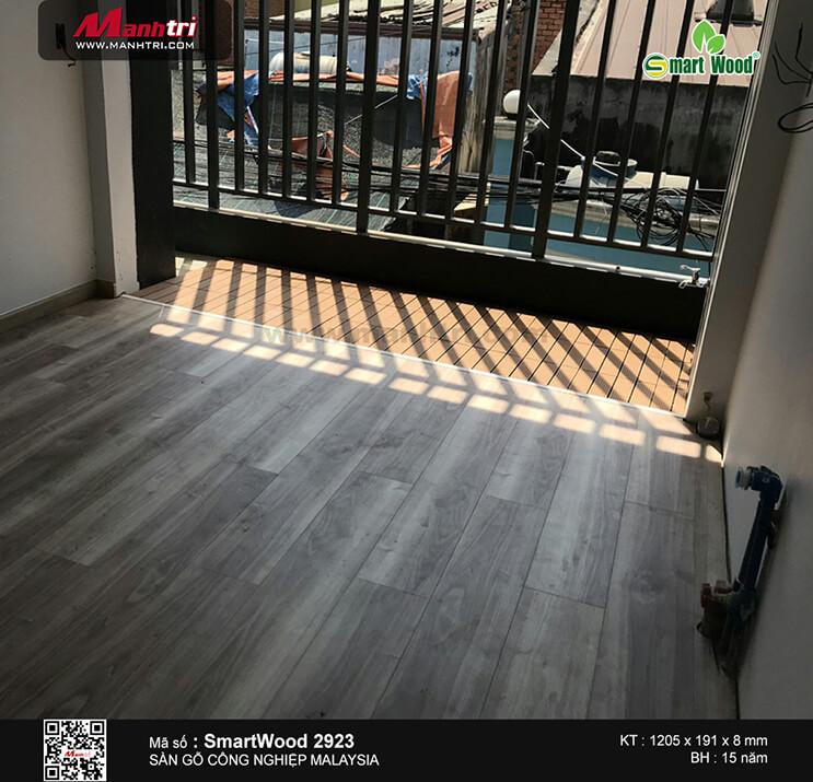 Thi công sàn gỗ công nghiệp Smart Wood 2923 tại Trường Chinh, P.Tân Thới Nhất, Q.12