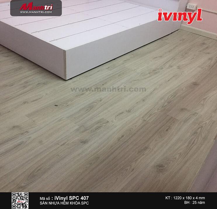 Thi công sàn nhựa hèm khóa iVinyl SPC407 tại Trần Hưng Đạo, P.7, Q.5, TP.HCM