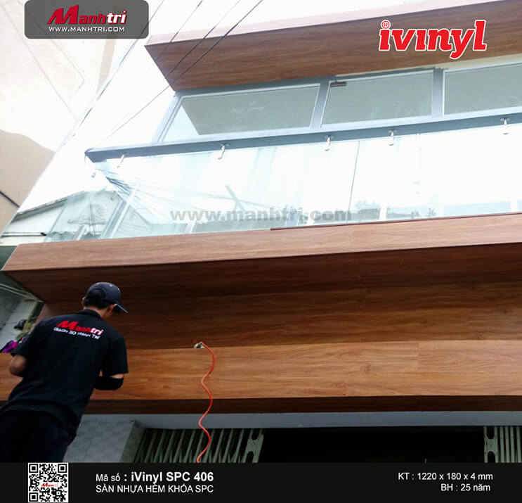 Thi công sàn nhựa hèm khóa iVinyl SPC 406 tại P. Phú Thọ Hòa, Q. Tân Phú