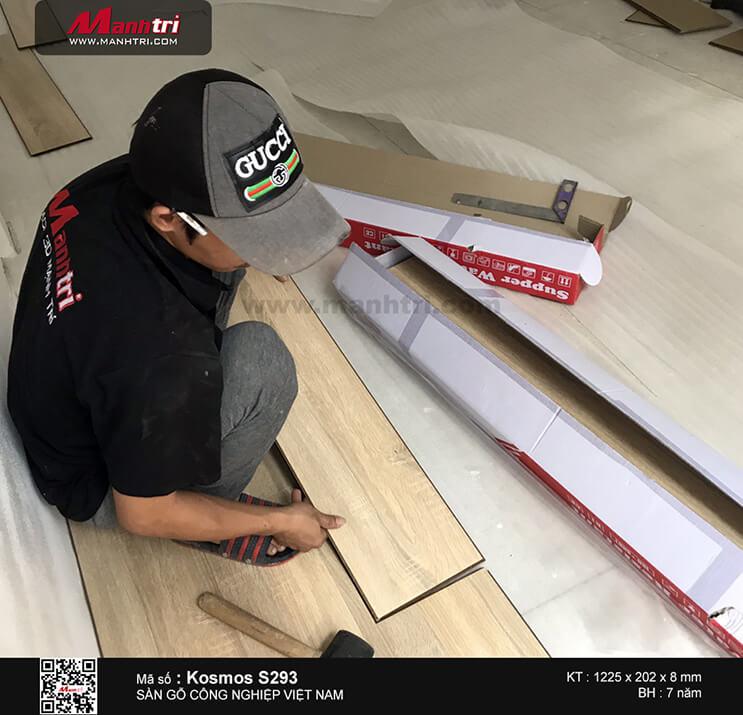 Thi công sàn gỗ công nghiệp Kosmos S293 tại Thuận Kiều, Q.5