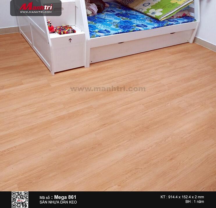 Thi công sàn nhựa dán keo Mega 861 tại Chung cư Bình Minh, Lương Định Của, Q.2