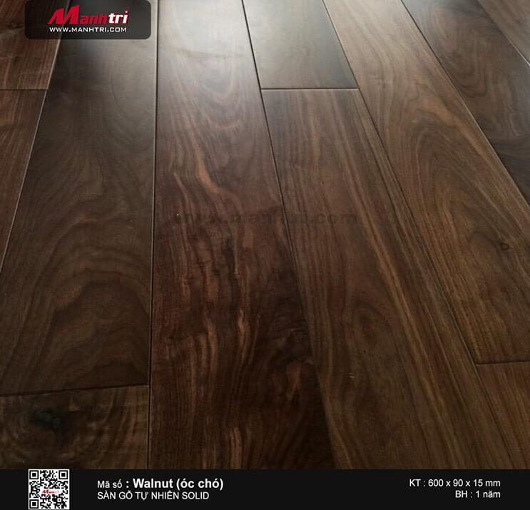 Thi công sàn gỗ tự nhiên Walnut (Óc Chó) tại Gò Vấp