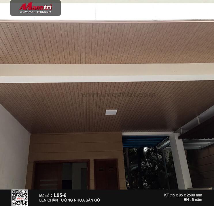Len chân tường nhựa L95-6 ốp trần tại An Phú, Q.2, TPHCM