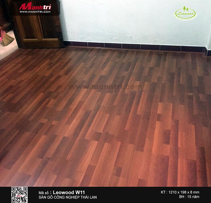 Thi công sàn gỗ công nghiệp Leowood W11 tại Lê Văn Thọ, P.9, Gò Vấp