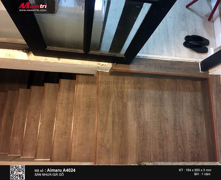 Thi công sàn nhựa dán keo Aimaru A4024 tại Thạch Thị Thanh, P. Tân Định, Q.1