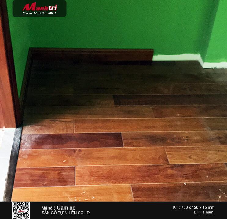 Thi công sàn gỗ tự nhiên Căm Xe Solid 750 tại Khu đô thị Lakeview City, Q.2, TP.HCM