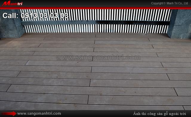 Thi công gỗ ngoài trời Awood HD140x25 tại quận 2, TPHCM