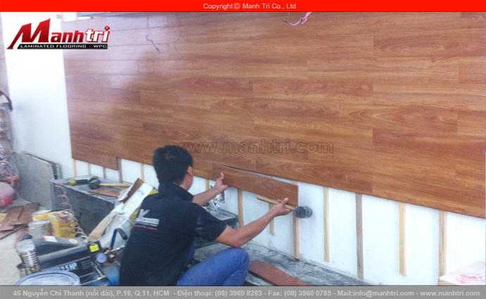 Ốp tường gỗ công nghiệp Manhattan H816 tại quận Bình Tân, TPHCM