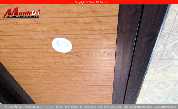 Thanh len nhựa B801-6 và B801-40 ốp trần nhà tại quận Tân Bình, TPHCM