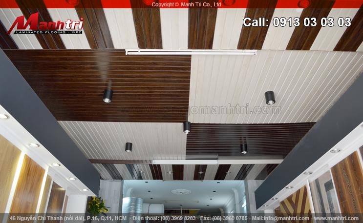 Lắp đặt gỗ nhựa Composite ốp trần nhà tại công ty An Phú