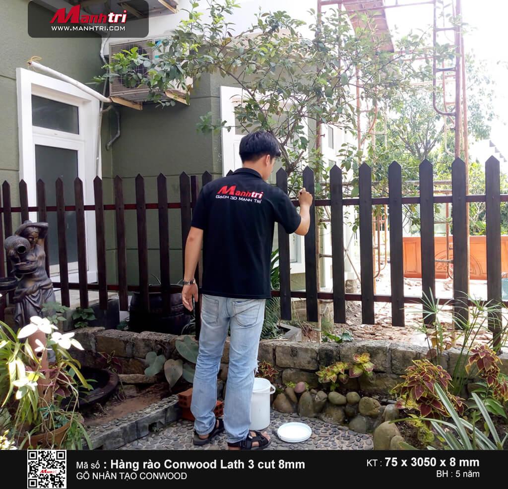 Gỗ Conwood làm hàng rào tại khu biệt thự Thảo Nguyên, Q.9