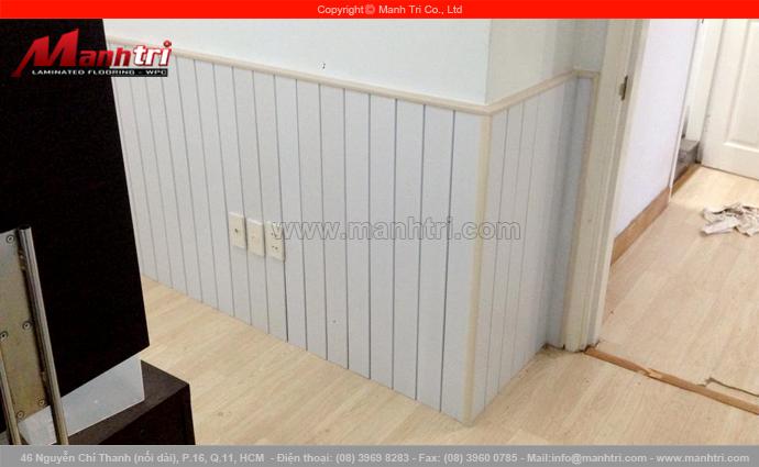 Len nhựa Composite B801-7 ốp lamri tại chung cư Mỹ Phước quận Bình Thạnh, TPHCM