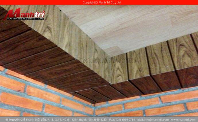 Len nhựa B801-8 ốp trần nhà Chị Hồng tại Đồng Nai