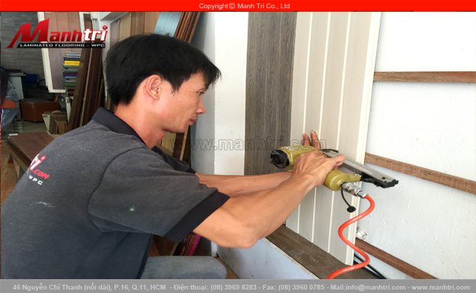 Len nhựa Smart Floor ốp trang trí tại công ty Thời Đại Mới quận Tân Bình, TPHCM