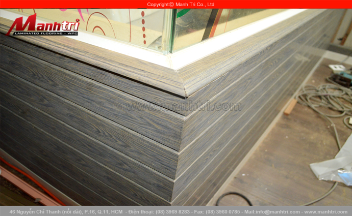 Ốp tường nhà bằng len nhựa Smart FLoor LMT001 tại quận 11, TPHCM