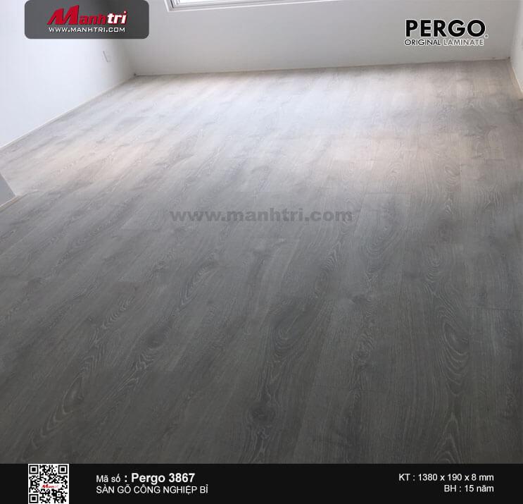 Thi công sàn gỗ Pergo 03867 tại C/C Rich Star 2, Hòa Bình, Q. Tân Phú