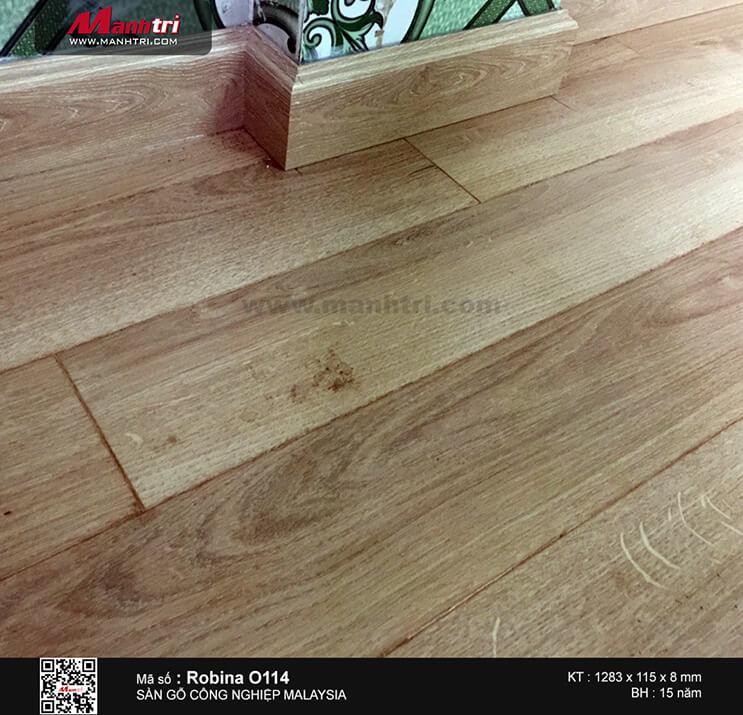 Thi công sàn gỗ công nghiệp Robina O114 tại Kinh Dương Vương, An Lạc, Q.Bình Tân