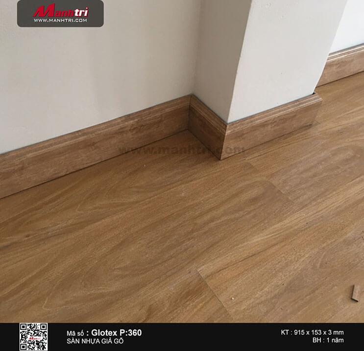 Thi công sàn nhựa dán keo Glotex P:360 tại Lê Hồng Phong, P.3, Q.5