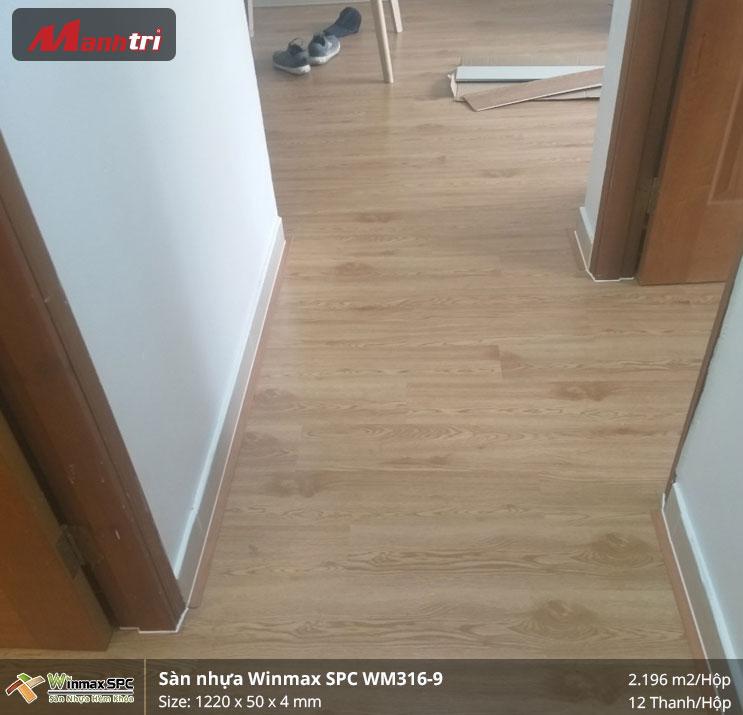 Thi công sàn nhựa hèm khóa SPC Winmax WM316-9 tại Nguyễn Gia Trí, Bình Thạnh