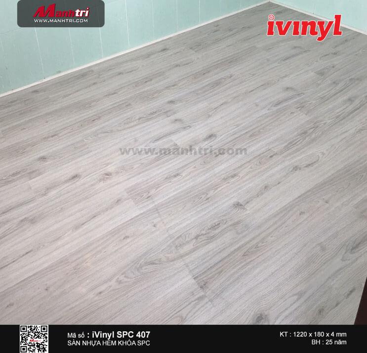 Thi công sàn nhựa hèm khóa iVinyl SPC407 tại Lũy Bán Bích, P. Hòa Thạnh, Q. Tân Phú