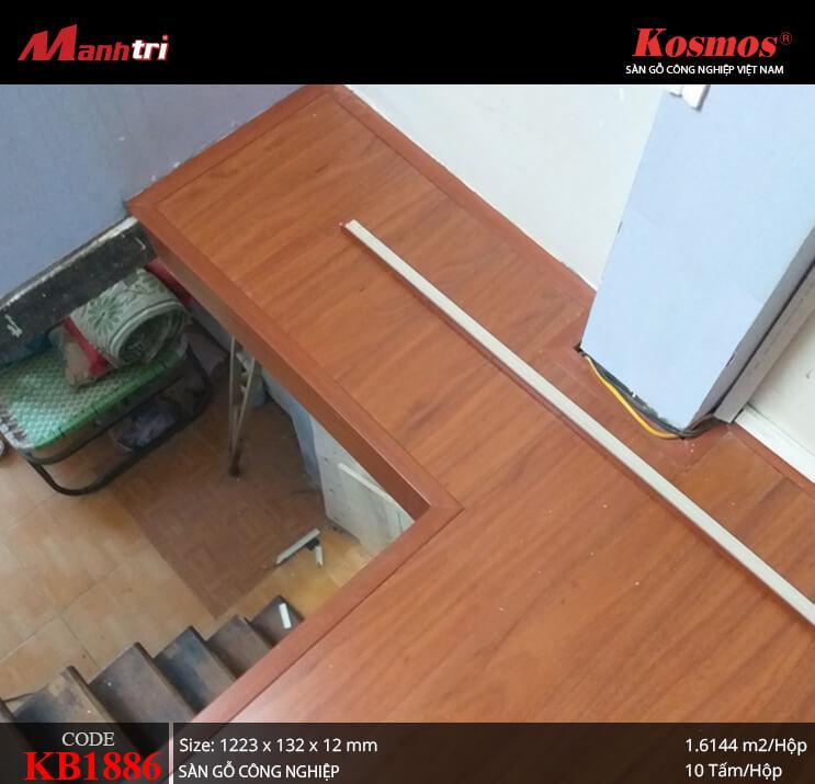 Thi công sàn gỗ công nghiệp Kosmos KB1886 tại Lê Đình Cẩn, Q. Bình Tân