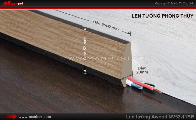 Len chân tường sàn gỗ Awood NV52-11BR