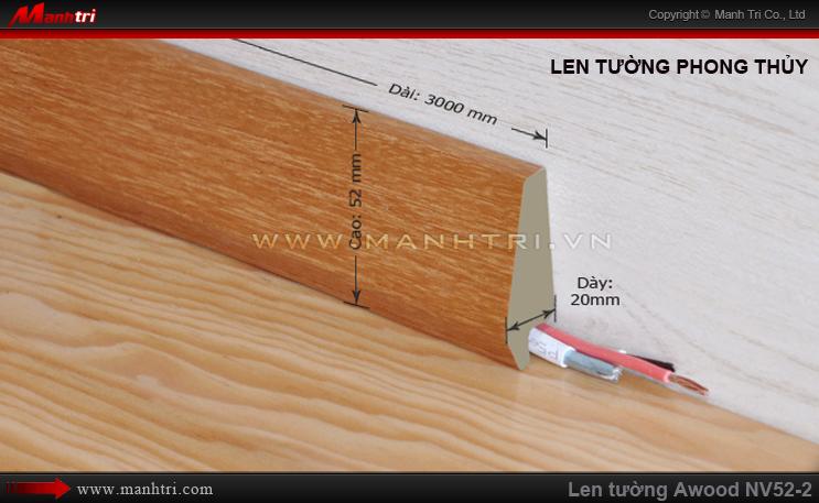 Len chân tường sàn gỗ Awood NV52-2