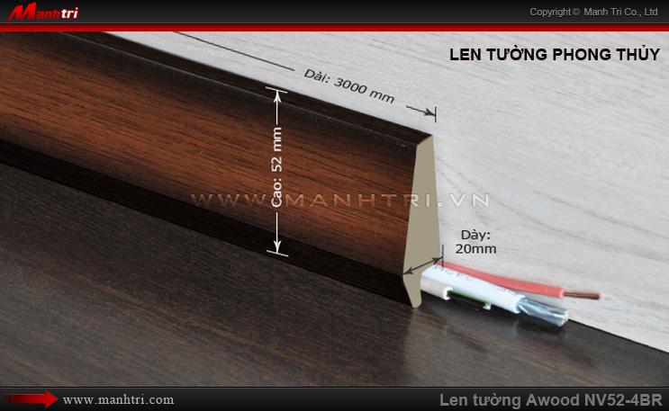 Len chân tường sàn gỗ Awood NV52-4BR