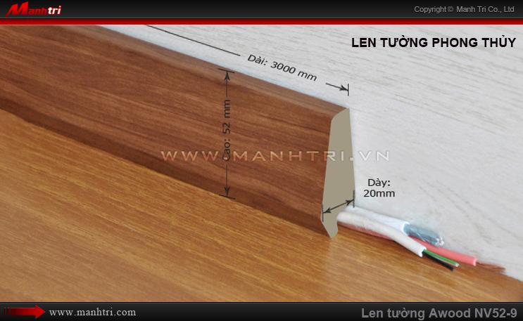 Len chân tường sàn gỗ Awood NV52-9