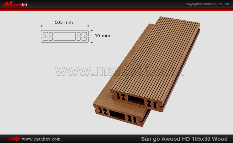 Sàn gỗ Awood HD105x30 Wood