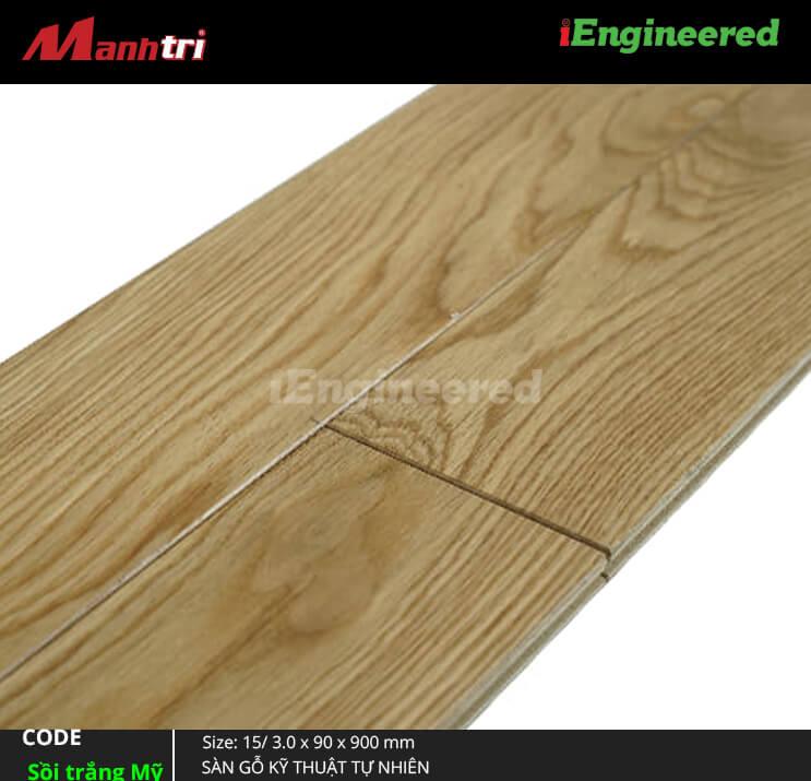 Sàn gỗ kỹ thuật Sồi trắng Mỹ Engineer