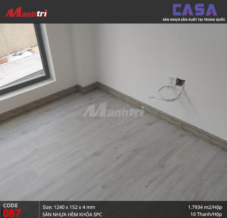 Thi công sàn nhựa hèm khóa SPC Casa 087 tại Đường 3/2, Q.11