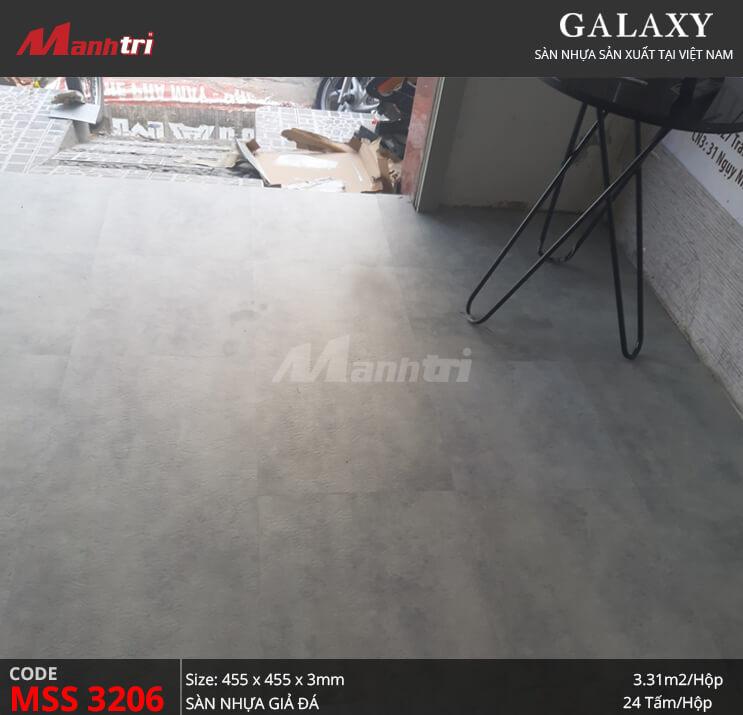 Thi công sàn nhựa dán keo Galaxy MSS 3206 tại Thạch Lam, Q.Tân Phú
